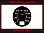Speedometer disc Hummer H1 MPH to KMH - 2